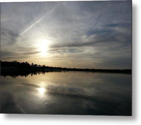 Lake Metal Print featuring the photograph Blue Sunset by Caryl J Bohn