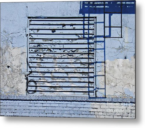 Wall Metal Print featuring the photograph Blue Wall by Sarah Loft
