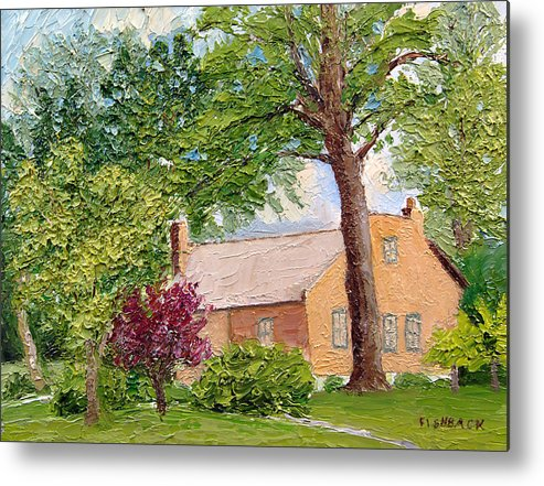 Landscapes Metal Print featuring the painting Bockrath-weise House Impressionistic Oil Painting by Daniel Fishback