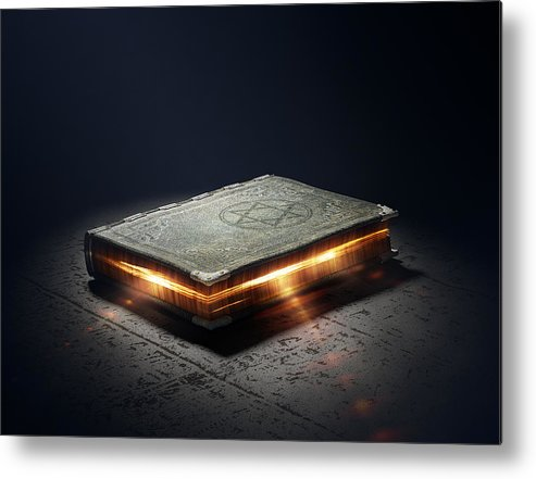 Book Metal Print featuring the photograph Book With Magic Powers by Johan Swanepoel