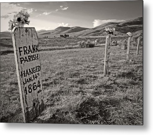 Montana Metal Print featuring the photograph Boot Hill - Virginia City - Montana by Daniel Hagerman