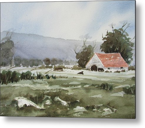 Watercolour Metal Print featuring the painting Breckon View by Raymond Mcsharry