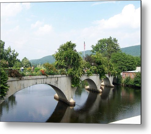 Bridge Metal Print featuring the photograph Bridge Of Flowers In Shelburne by Catherine Gagne