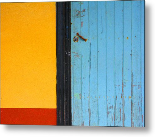 Door Metal Print featuring the photograph Bright Colors Of The Caribbean by Sandy Dimke