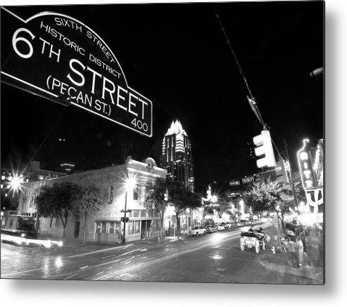 Austin Metal Print featuring the photograph Bright Lights At Night by John Gusky