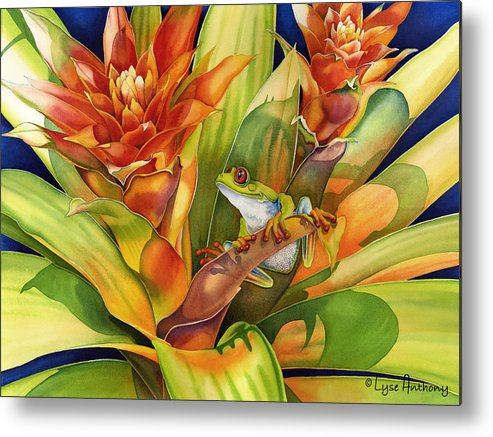 Frog Metal Print featuring the painting Bright Stars by Lyse Anthony