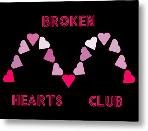 Computer Graphics Metal Print featuring the photograph Broken Hearts Club by Marian Bell