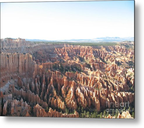 Rocks Metal Print featuring the photograph Bryce Canyon Scenic Overlook by Christiane Schulze Art And Photography