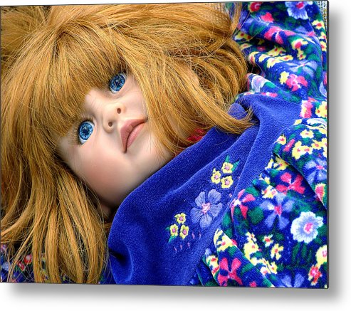 Dolls Metal Print featuring the photograph But My Hair Is Real by Ira Shander