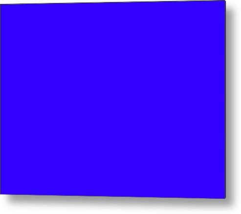 Abstract Metal Print featuring the digital art C.1.50-0-255.4x3 by Gareth Lewis