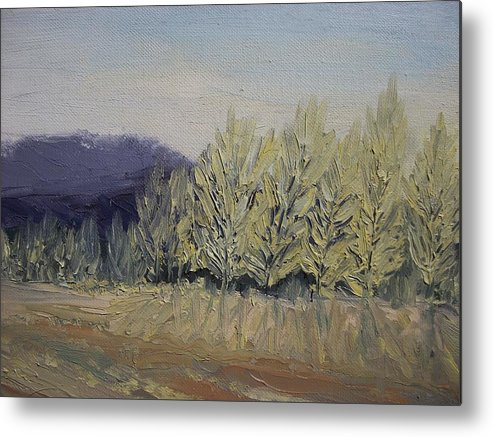 Oil Metal Print featuring the painting Cades Cove by Dwayne Gresham