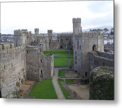Castles Metal Print featuring the photograph Caernarfon Castle by Christopher Rowlands