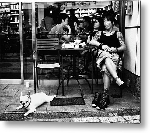 Street Metal Print featuring the photograph Cafe by Tatsuo Suzuki