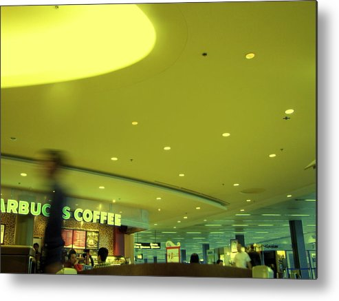 Airport Terminal Metal Print featuring the photograph Caffe On The Fly by Kathleen Grace