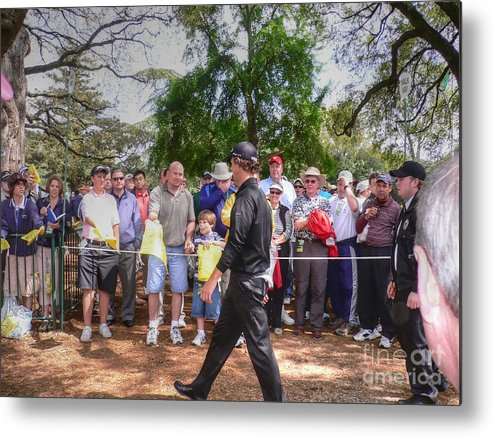Masters Golf Tournament Metal Print featuring the photograph Can You Sign My Card by David Bearden