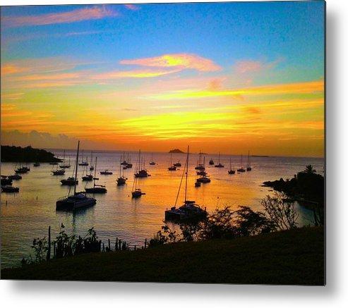 Caribbean Metal Print featuring the photograph Caribbean Sunset by Duncan Molesworth