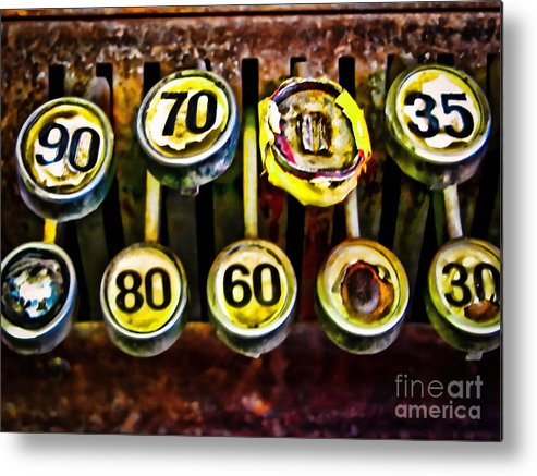 Register Metal Print featuring the photograph Cash Out by Colleen Kammerer