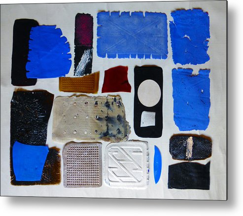 Acrylic Casts And Moulding Mounted On Canvas And Wood Metal Print featuring the mixed media Cast Abstraction 3 by Mark Fearn