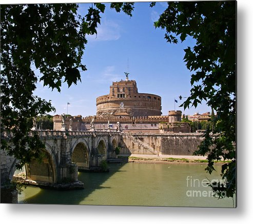 Water Metal Print featuring the photograph Castel Sant' Angelo by Alex Cassels