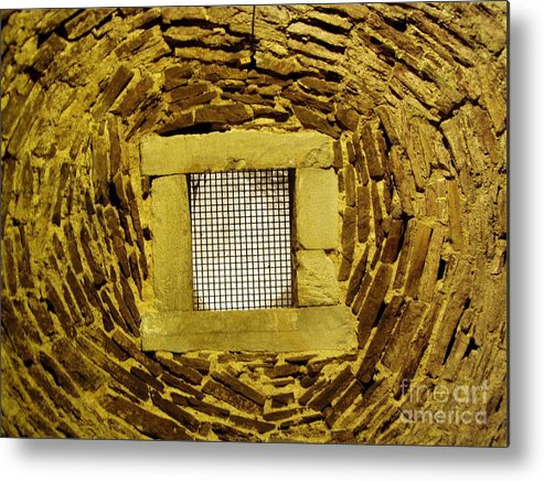 Castle Doune Metal Print featuring the photograph Castle Doune England Ceiling Detail by Lesley Nolan