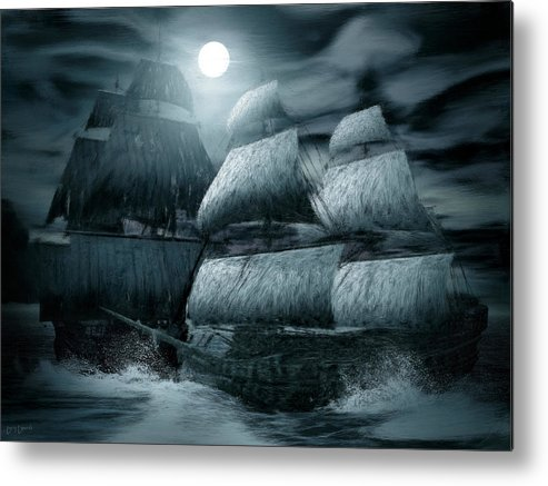 Ghostship Metal Print featuring the photograph Catastrophic Collision by Lourry Legarde