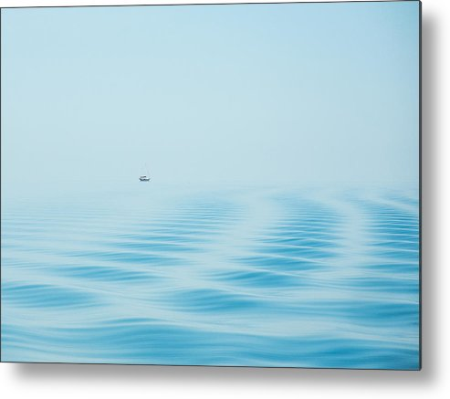 Ocracoke Metal Print featuring the photograph Cedar Island Ferry View 1 by Debbie Lucas