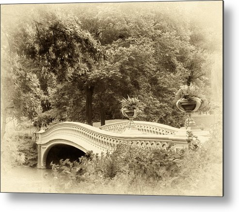 Bridge Metal Print featuring the photograph Charm Of Bow Bridge by Jessica Jenney