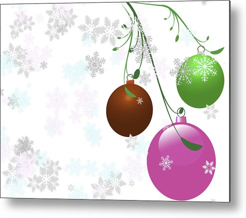 Backgrounds Metal Print featuring the photograph Christmas Bulbs by Frank Pali