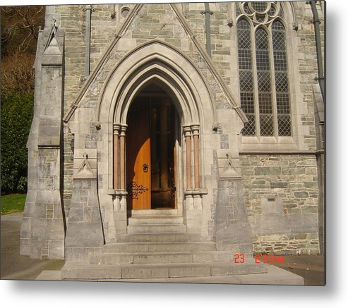 Church Metal Print featuring the photograph Church Entrance by Martin Masterson