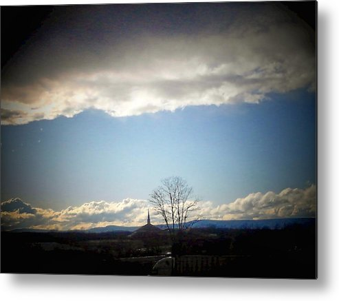 Clouds Metal Print featuring the photograph Church Storm by Michael L Kimble
