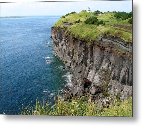 Jeju Metal Print featuring the photograph Cliffs Of Korea by Aaron Evans