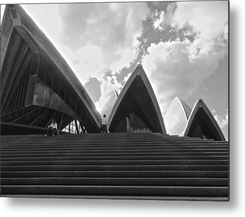 Sydney Opera House Metal Print featuring the photograph Cloud Phantom by Kyle Newman