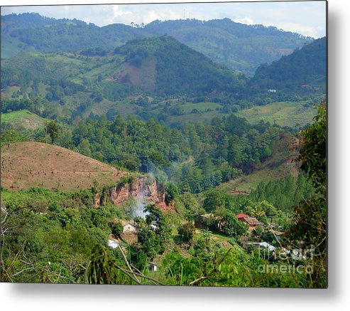 Mountain Metal Print featuring the photograph Coffee Farmer's House by Lew Davis