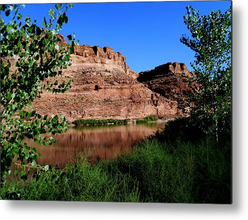 Colorado River Metal Print featuring the photograph Colorado River At Moab by Marty Fancy