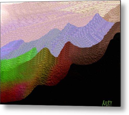 Colorful Mountain Range Metal Print featuring the painting Colorful Mountain Range by Nereida Slesarchik Cedeno Wilcoxon