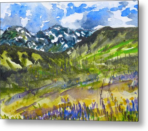 Colorado Landscape Metal Print featuring the painting Come This Way by Alina Foley