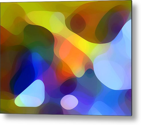 Bold Metal Print featuring the painting Cool Dappled Light by Amy Vangsgard