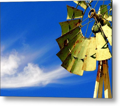 Water Pump Metal Print featuring the photograph Country Windmill by David Rich