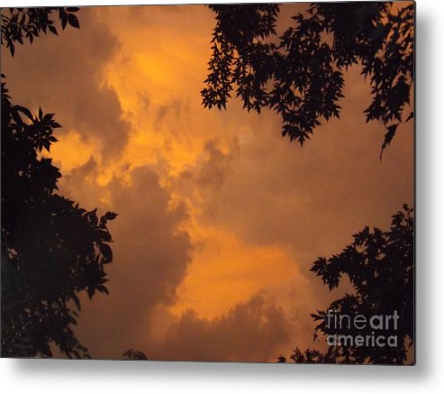 Cloud Metal Print featuring the photograph Cresting The Storm Clouds by Brenda Brown