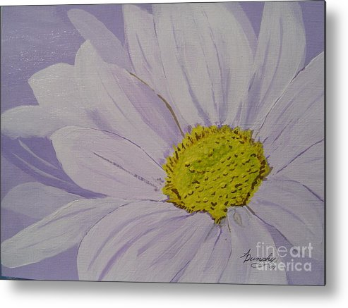 Daisy Metal Print featuring the painting Daisy by Anthony Dunphy