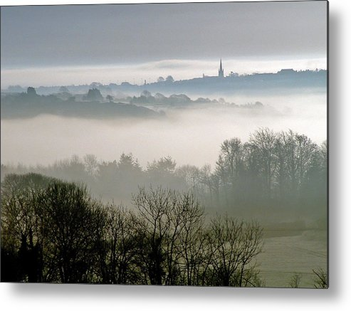 Mist Metal Print featuring the photograph Dawn Mist Over The Village by North Devon Photography