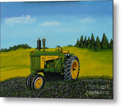 John Deere Metal Print featuring the painting Dear John by Anthony Dunphy