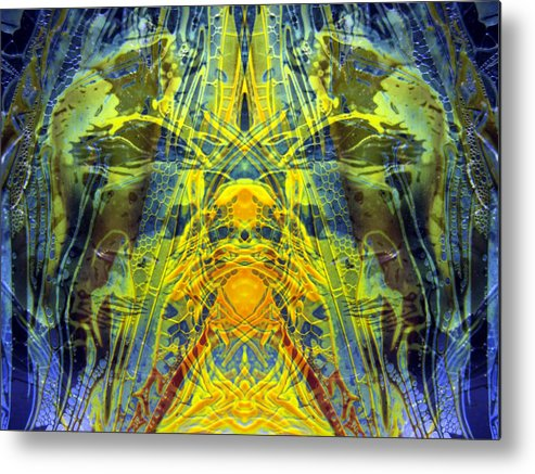 Surrealism Metal Print featuring the digital art Decalcomaniac Intersection 1 by Otto Rapp