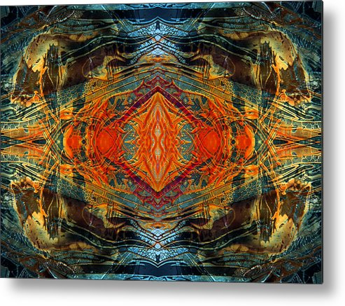 Surrealism Metal Print featuring the digital art Decalcomaniac Intersection 2 by Otto Rapp