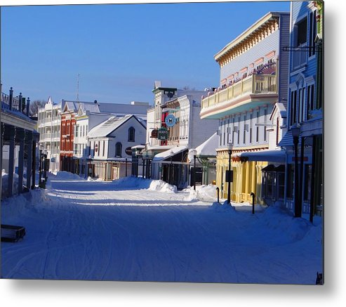 Mackinac Island Metal Print featuring the photograph Downtown Mackinac In The Early Morning by Keith Stokes