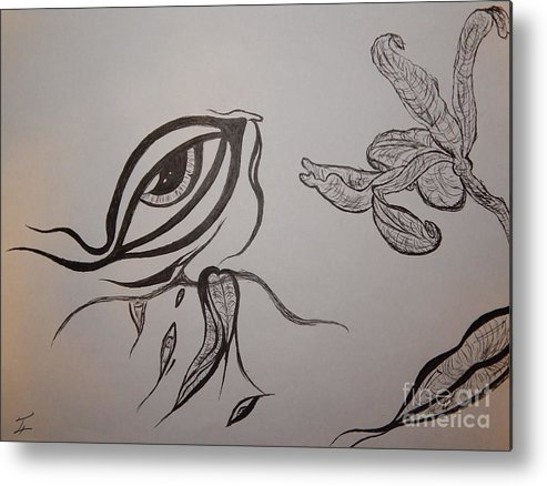 Drained Metal Print featuring the drawing Drained By The Bloom by Thommy McCorkle