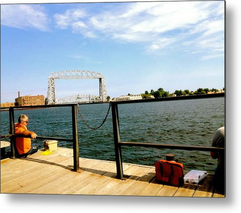 Fishermen Metal Print featuring the photograph Duluth Docks by Danielle Broussard
