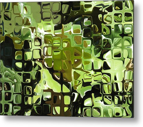 Abstract Metal Print featuring the digital art Earth Music by Wendy J St Christopher