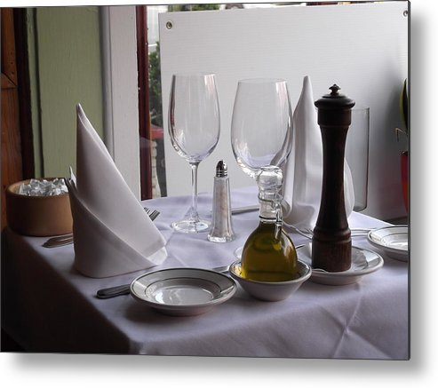 Table Metal Print featuring the photograph Elegance by Lisa Cruz