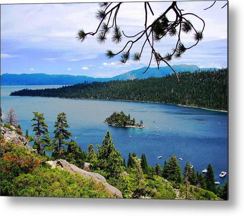 Landscape Metal Print featuring the photograph Emerald Bay by Nick Sikorski
